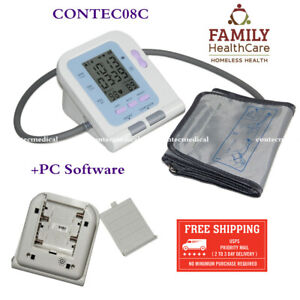 Health Care Communication With Pc Upload Data To Computer Digital Sphygmomanometer Blood Pressure Monitor Automatic Contec08c Discounts Price
