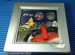 2008-Singapore-Grand-Prix-Singtel-F1-2-Cupro-Nickel-amp-50-Silver-Proof-Coin-Set