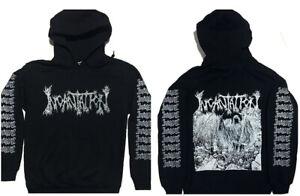 INCANTATION-Hoodie-MORBID-ANGEL-Mayhem-Immolation-Carcass-Venom-Bathory-2XL-3XL