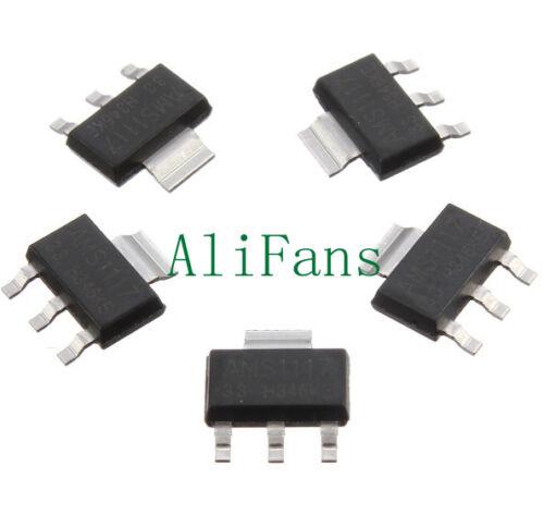 10pcs AMS1117-3.3 LM1117 3.3V 1A SOT-223 Voltage Regulator NEW