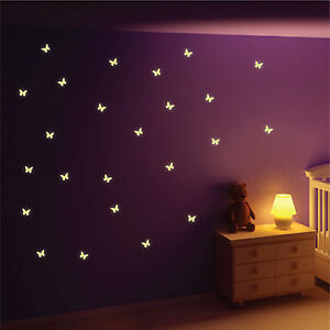 Glow-in-the-Dark-Butterfly-Wall-Stickers-Wall-Decals-Wall-Art-Wall-Graphics