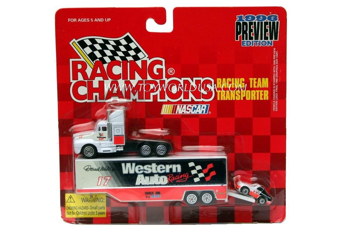 Racing Champions Racing Transporter Team Transporter Racing Darrell Waltrip  17 Western Auto f3a53e