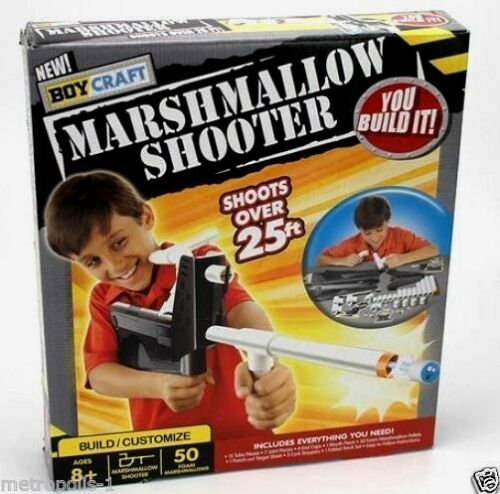 BOY CRAFT,MARSHMALLOW SHOOTER RIFLE,YOU BUILD IT,BUILDING,CONSTRUCTION TOY,NEW