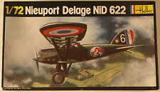 France Nieuport Delage NiD 622, 1930s biplane, 1/72 Heller model kit 224