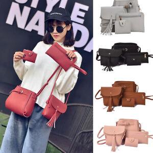 4pcs-2pcs-Lady-Shoulder-Bags-Purse-Messenger-Satchel-Leather-Women-Handbag-NEW