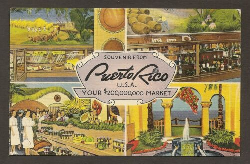 SOUVENIR POSTCARD FROM THE PUERTO RICO PAVILION NEW YORK WORLD'S FAIR, 1939