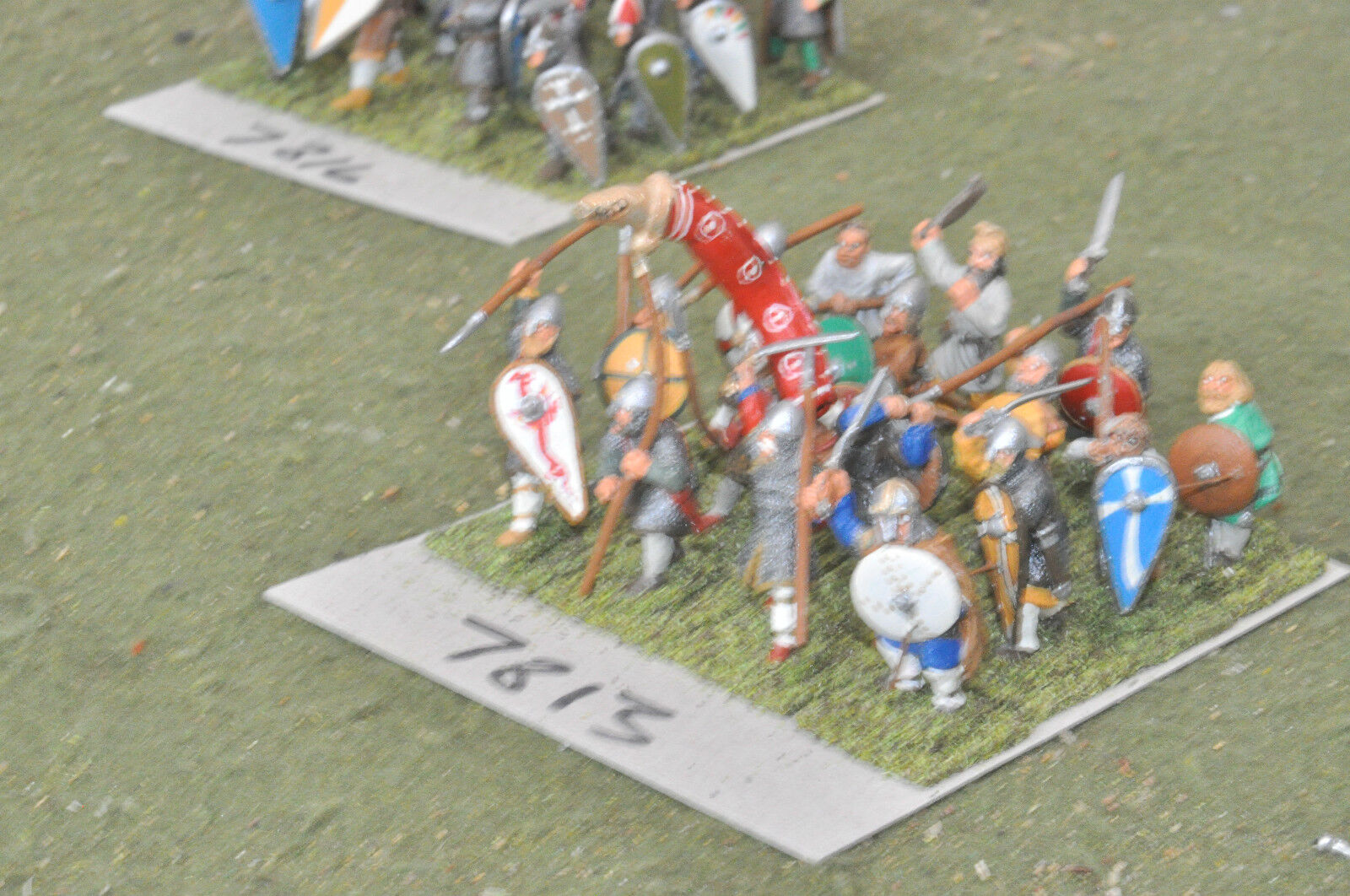 25mm dark ages   viking - warband 16 figs painted metal - inf (7813)