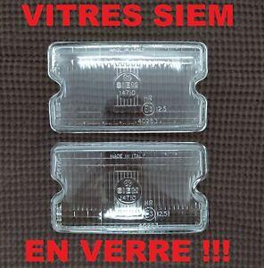 NEUF-x2-VITRES-VERRE-SIEM-PHARES-LONGUE-PORTEE-PEUGEOT-205-1L6-1-9-GTI-CTI