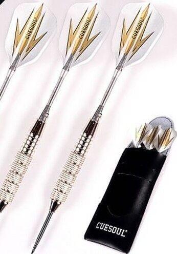 Professional Darts Steel Tip Chrome Plated Iron Recreational Dart Game 3 Pcs//Set