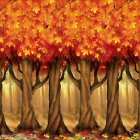 Fall Thanksgiving Party Decoration Mural Autumn Trees Backdrop Photo Prop