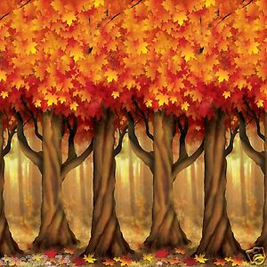 FALL Thanksgiving Party Decoration Mural AUTUMN TREES
