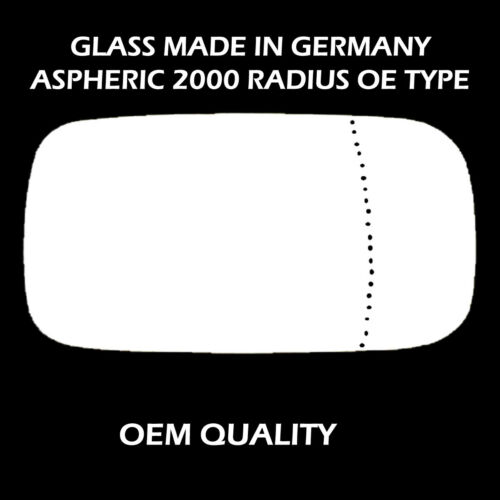Volvo S40 Wing Mirror Glass ,Aspheric, Right Hand side, 2004 to 2006