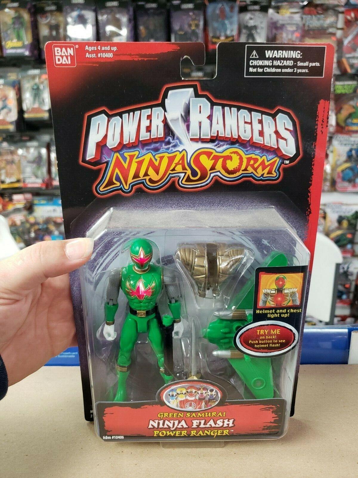 Power Rangers Ninja Storm 5  Grün SAMURAI Ninja Flash Power Ranger New Sealed