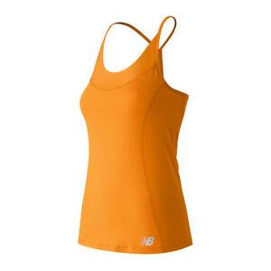 New Balance Femme Maillot à Dos Nageur Débardeur-orange-afficher Le Titre D'origine ExtrêMement Efficace Pour Conserver La Chaleur
