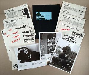 c-1977-PHILO-RECORDS-ROSALIE-SORRELS-UTAH-PHILLIPS-Press-Kit-Clippings-Photos