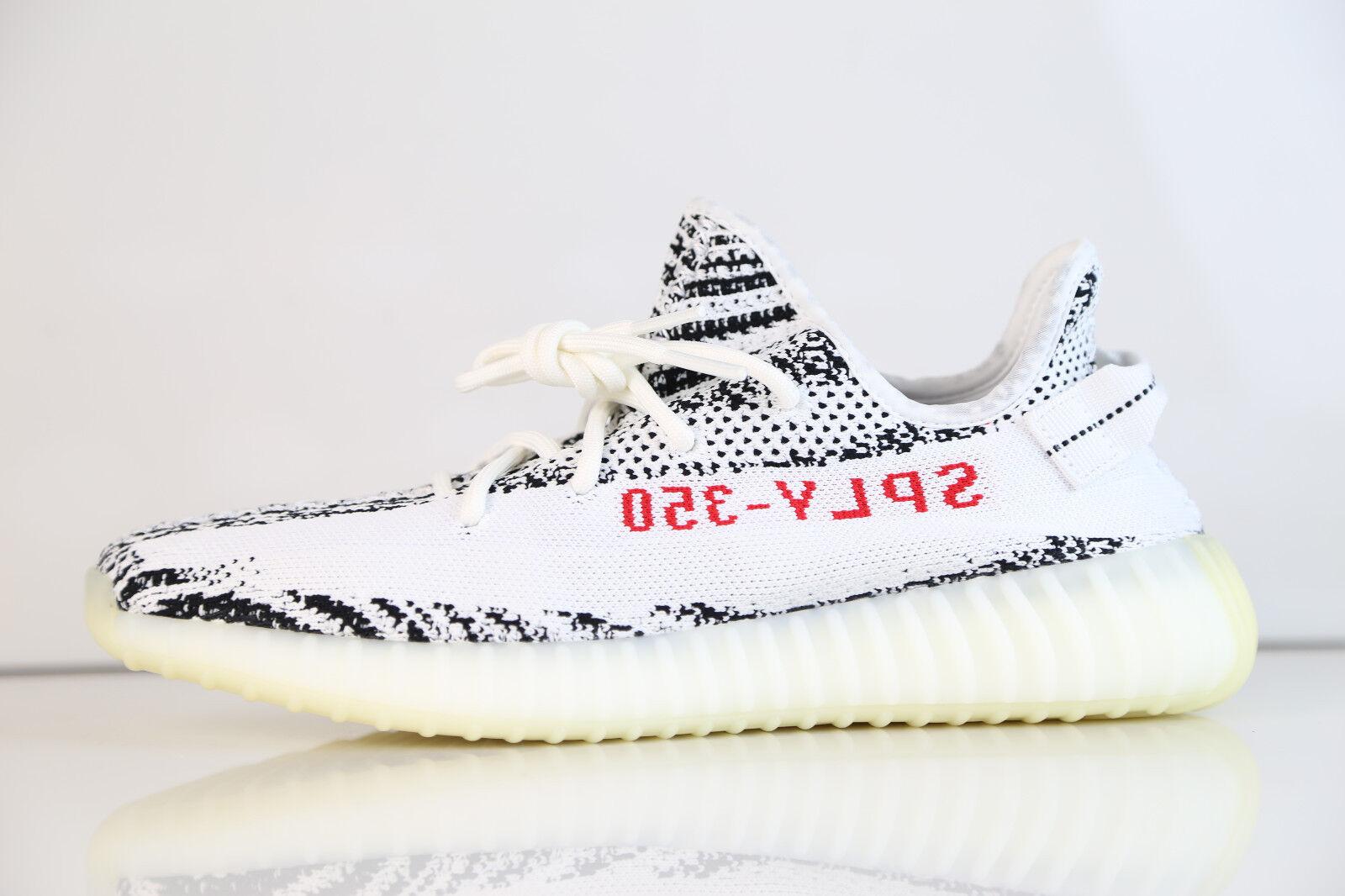 Adidas yeezy da kanye west, 350 v2 zebra bianco grigio - rosso cp9654 514 impulso pk - 1