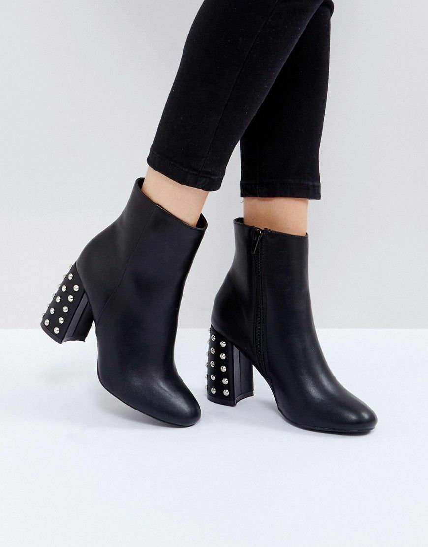 NEW TRUFFLE COLLECTION Spiked Heel Ankle Boots size 7