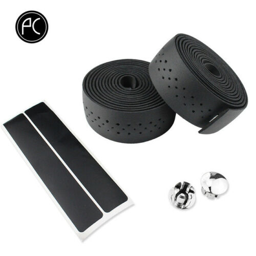 1 Pair Leather Cycling Handle Wraps Grips Bicycle Bar Tape Handlebar Tapes