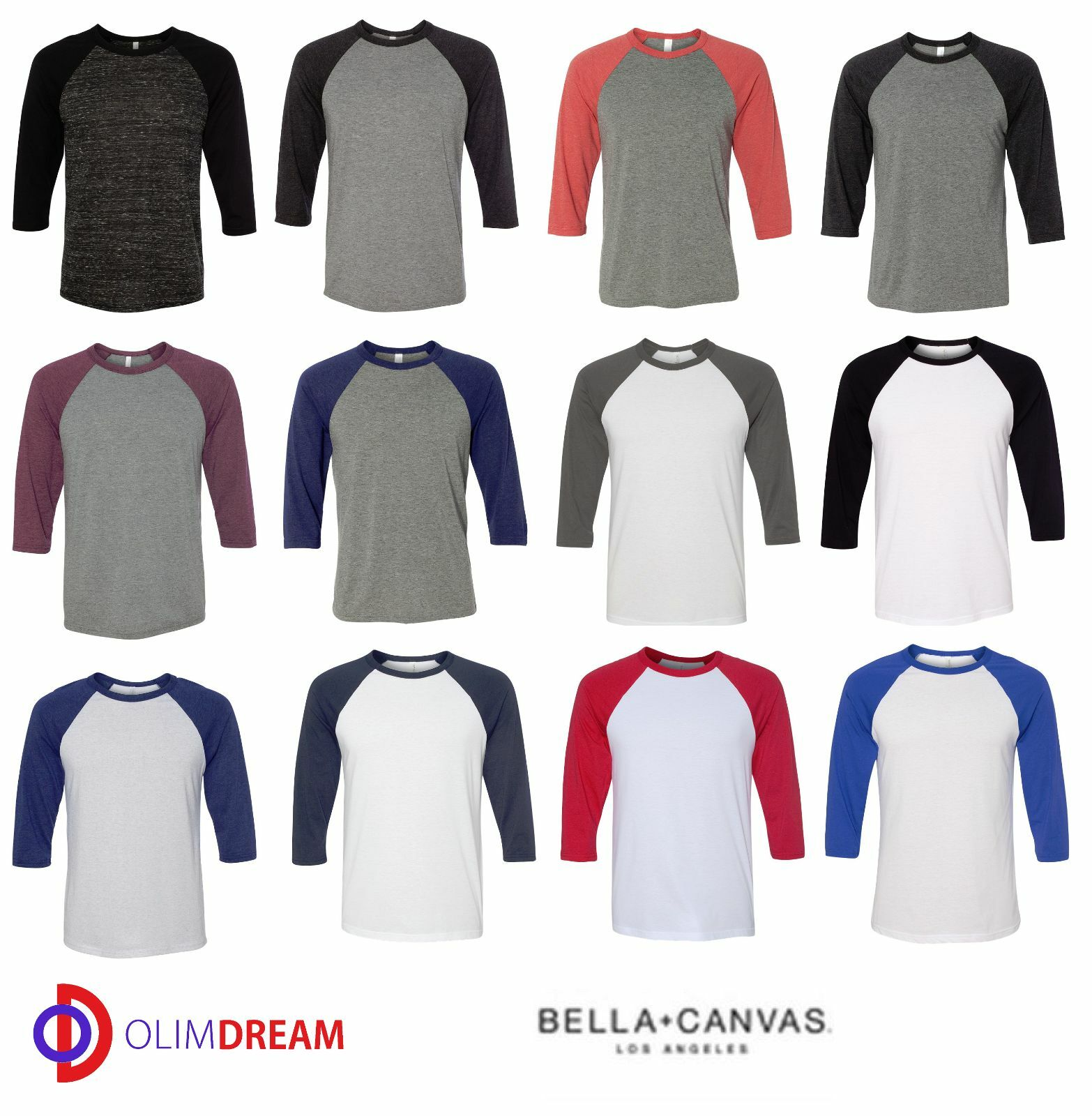 Canvas mens 34 sleeve baseball jersey t shirt raglan tee team canvas mens 34 sleeve baseball jersey t shirt raglan tee team sport xs 2xl 3200 nvjuhfo Images