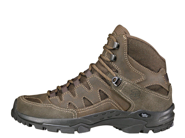 Hanwag Sendero Gore-Tex escursioni a piedi Trekking Walking scarpa da uomo Morbido gezwickt guarda