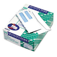 Quality Park Double Window Security Tinted Check Envelope 8 5/8 White 500/box on sale