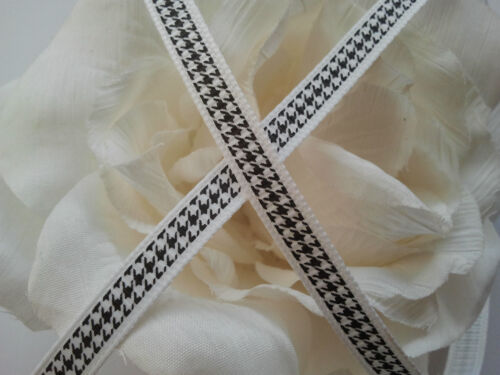 Black White Ribbon Trim Grosgrain Berisfords Two Metres 8mm Width