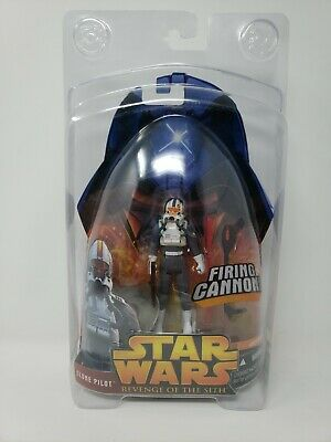 Star Wars Revenge of The Sith Clone Pilot Trooper Figure with Firing Cannon