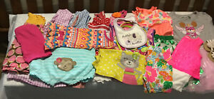LOT-OF-15-TODDLER-GIRL-SUMMER-CLOTHES-BY-CARTERS-HEALTHTEX-AND-OTHERS