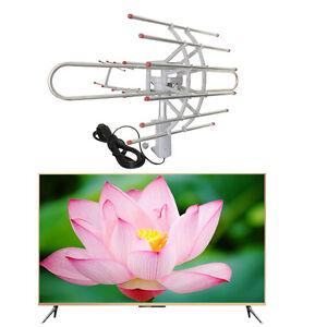 180 Miles HDTV Outdoor Amplified Antenna HD TV Directional UHF/VHF/FM Antenna J0