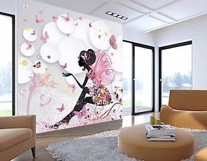 Details zu 3D Mädchen flügel 739 Wandbild Fototapete Bild Tapete Familie  Kinder DE Lemon