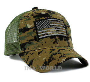 Image is loading USA-American-Flag-hat-Mesh-Tactical-Operator-Snapback- 872cbd4071a