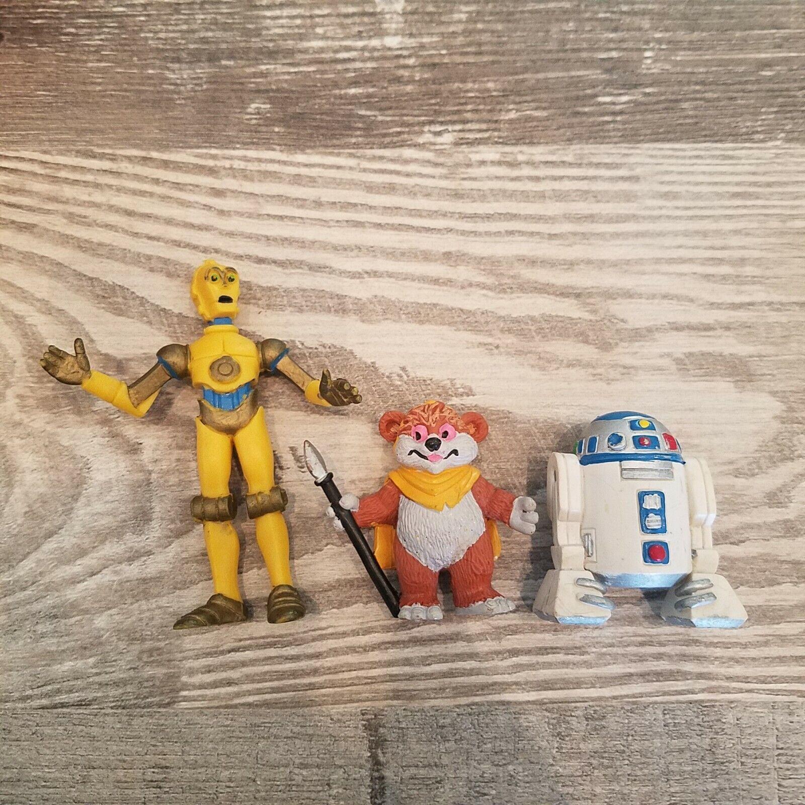 1986 PVC Lfl Estrella Wars Droids Ewoks Series Animadas Dibujos Animados Wicket C-3PO R2D2