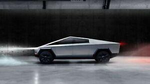 Iconic Arts Supercar- Tesla Cybertruck Laminated 18x24 Poster