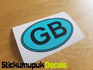 "GB Oval Blue Car Camper Van Bumper Window Sticker Decal 5/"" 125mm Wide VW"