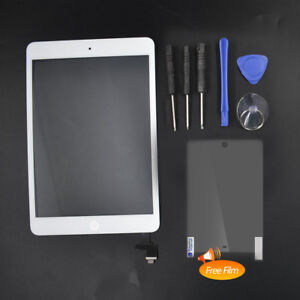 White-Touch-Screen-Glass-Digitizer-Replacement-IC-Home-Button-for-iPad-Mini-1-2