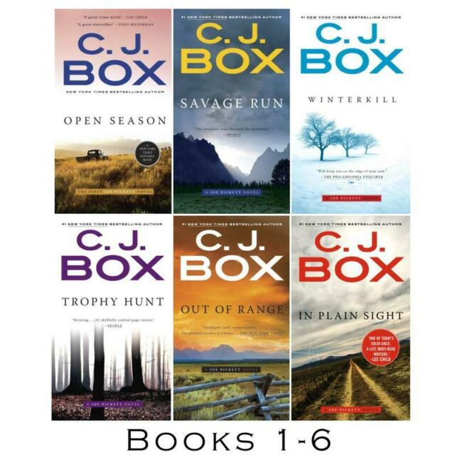 JOE PICKETT Detective Series by CJ Box Collection Set of Paperback Books 1-6
