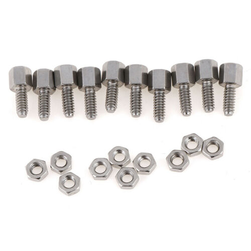 10Sets 5+7mm Header Plate Bracket Stud Bolt /& Nut Nuts Screw D-Sub VGA ser!E