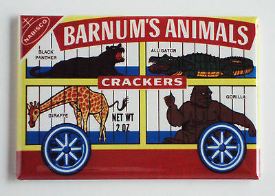 Animal Crackers FRIDGE MAGNET (2.5 x 3.5 inches) box cookies