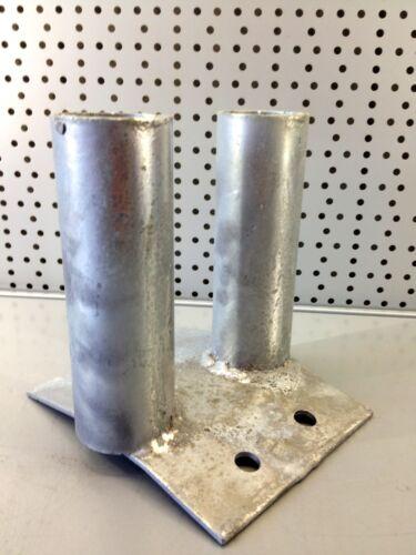 5 Stck Bauzaun Bodenplatte verzinkt zum Aufdübeln