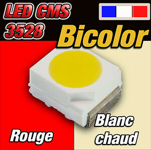 142-LED-CMS-3528-bicolor-rouge-blanc-chaud-10-a-100pcs-red-warm-white