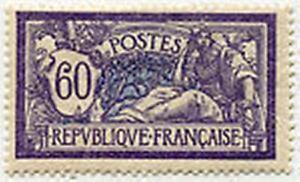 FRANCE-STAMP-TIMBRE-YVERT-N-144-034-MERSON-60c-VIOLET-ET-BLEU-034-NEUF-xx-TTB