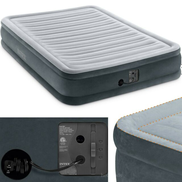 Free Shipping Intex Comfort Plush Mid Rise Dura-Beam Airbed with Built-in Ele..