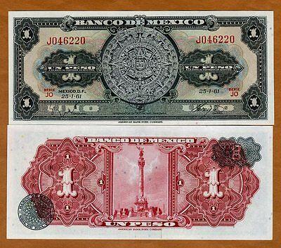 Mexico, 1 Peso, 25-1-1961, P-59 (59g),  UNC