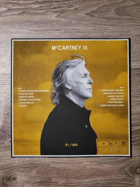 Paul McCartney - III Third Man Records  #81/333 Yellow Limited. Numbered