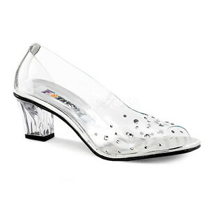 Image Is Loading Clear Cinderella Princess Glass Slippers Bridal Wedding  Shoes
