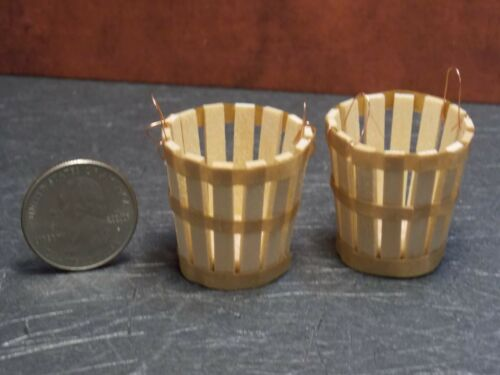 Dollhouse Miniature Produce Bushel Basket Set 2   1:12 scale E42 Dollys Gallery