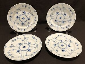 Image is loading Royal-Copenhagen-Blue-Fluted-Plain-Lace-177-Luncheon- & Royal Copenhagen Blue Fluted Plain Lace 177 Luncheon Plates Set 4 ...