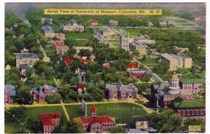 AERIAL-VIEW-OF-UNIVERSITY-OF-MISSOURI-Columbia-c1940-POSTCARD-Campus