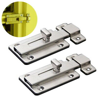 2pcs Stainless Steel Door Latch Sliding Lock Door Bolt For Internal Doors Home