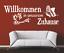X4632-Wandtattoo-Spruch-Willkommen-in-unserem-Zuhause-Sticker-Wandaufkleber-Bild Indexbild 2